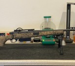 Howa HS Precision Black/Sand Bolt Action Rifle - 300 PRC w/reloading dies and components
